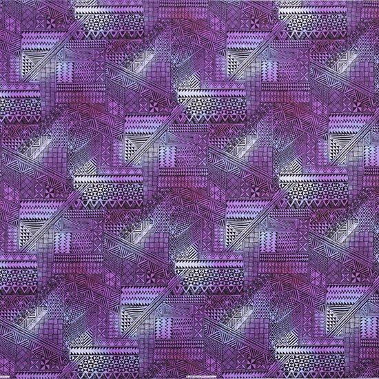 紫のハワイアンファブリック タパ・グラデーション柄 fab-2838PP 【4yまでメール便可】