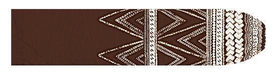 茶色のパウスカートケース カヒコ・タパ柄 pcase-2837BR 【メール便可】★オーダーメイド