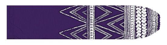 紫のパウスカートケース カヒコ・タパ柄 pcase-2837PP 【メール便可】★オーダーメイド