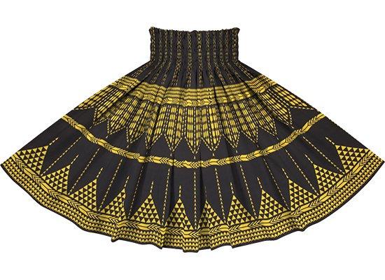 黒のパウスカート カヒコ柄リバース spau-2835BK-rev