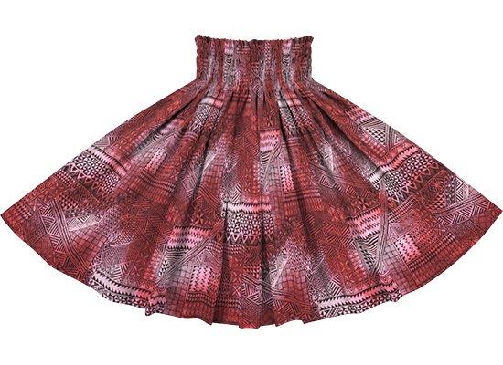 ピンクのパウスカート タパ・グラデーション柄 spau-rm-2838Pi 仕上がり丈約73cm 4本ゴム 【既製品】
