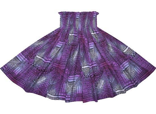 紫のパウスカート タパ・グラデーション柄 spau-rm-2838PP 仕上がり丈約73cm 4本ゴム 【既製品】