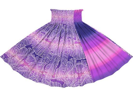 【たて切り替えパウスカート】 紫とピンクのバナナリーフ・グラデーション柄と紫のグラデーション vypau-2833PPPi