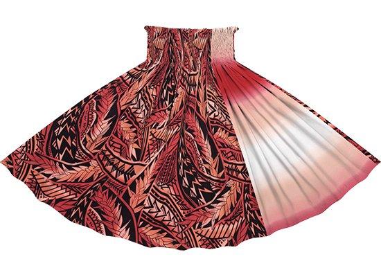 【たて切り替えパウスカート】 赤のトライバル・リーフ柄と赤のグラデーション vypau-2836RD
