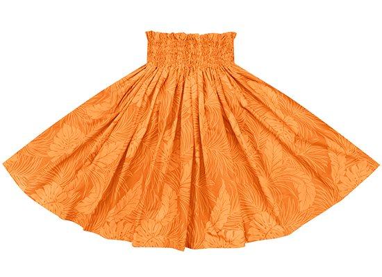 オレンジのパウスカート モンステラ総柄 (1935) spau-2022OR