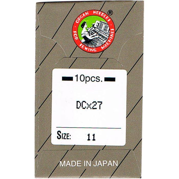 工業用ミシン針 オルガン針社製 DC×27 サイズ #11 10本入り 【メール便可】