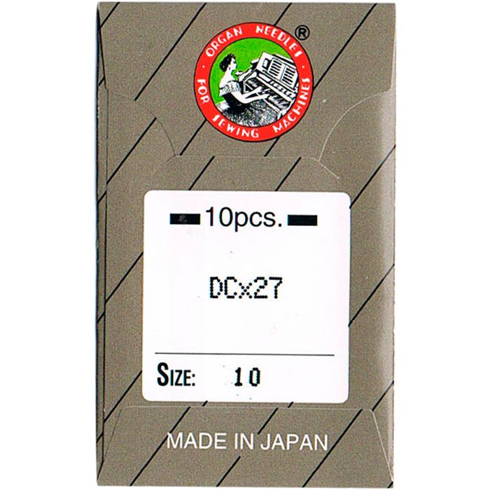 工業用ミシン針 オルガン針社製 DC×27 サイズ #10 10本入り 【メール便可】
