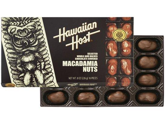 マカデミアナッツチョコレートTIKI 8oz(16粒)【ハワイアンホースト】
