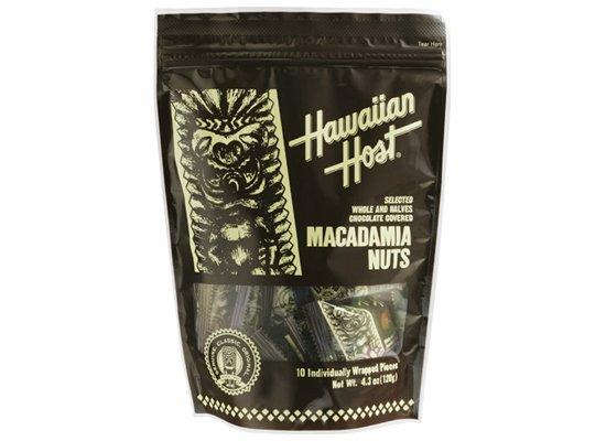 マカデミアナッツチョコレートTIKI スタンドバッグ(10粒)【ハワイアンホースト】