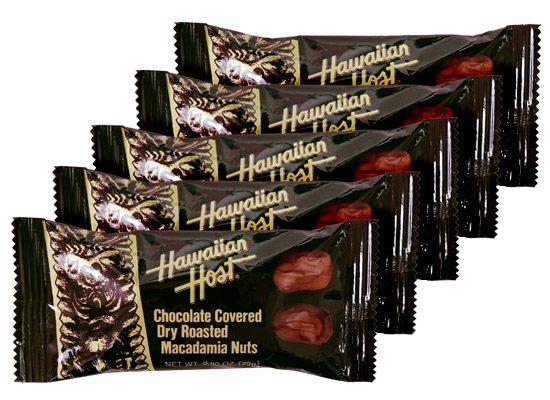 マカデミアナッツチョコレートTIKIバー(2粒×5個)【ハワイアンホースト】