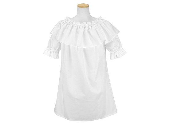 白の襟つき4wayブラウス hlds-4waybl-rm-WH 【既製品】【メール便可】