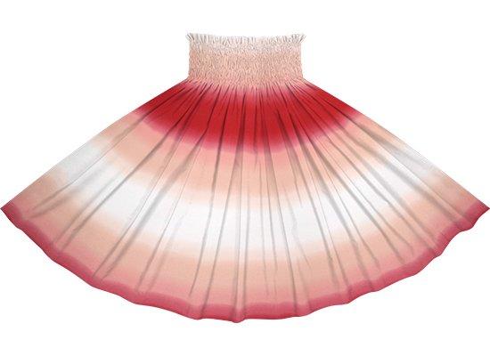 クリーム色と赤のパウスカート グラデーション柄 spau-2270CRRD-tp