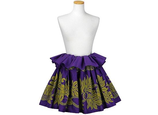 紫のタヒチアンスカート 楽器・パフドラム・ウル・イリマ柄 tahiti-skt-1055-45cm-2line