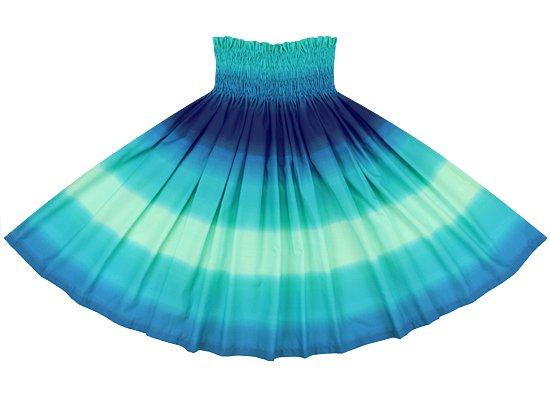 ヒスイ色と青のパウスカート グラデーション柄 spau-2270JDBL-tp