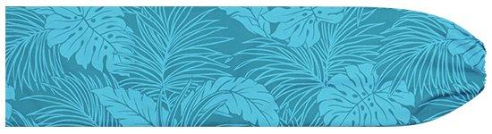 水色のパウスカートケース モンステラ柄 pcase-2022AQ 【メール便可】★オーダーメイド