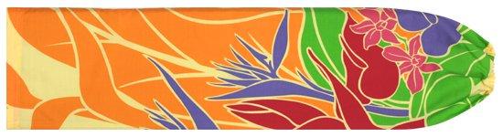 オレンジのパウケース バードオブパラダイス柄 pcase-2407or 【メール便可】★オーダーメイド