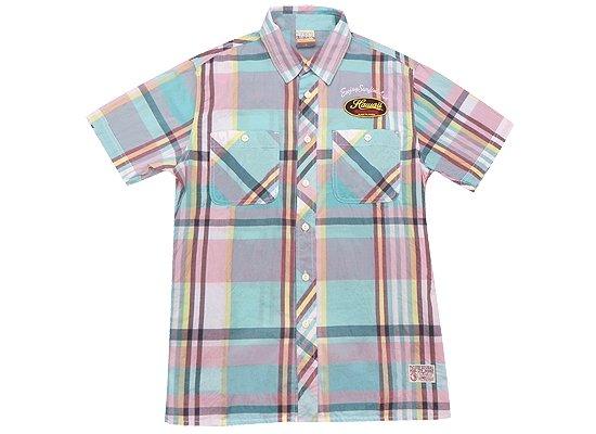 T&C タウカン チェックメンズシャツ Lサイズ アクア