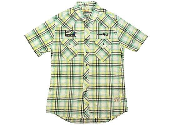 T&C タウカン チェックメンズシャツ Lサイズ グリーン