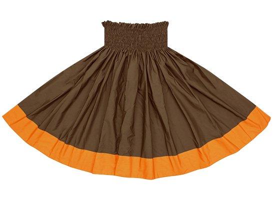 【ポエポエパウスカート】 チョコレート色とビビッドオレンジの無地パウ pppaus-chocolate-vividor