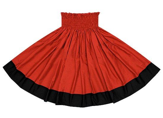 【ポエポエパウスカート】 クリムゾンとダークブラックの無地パウ pppaus-crimson-black