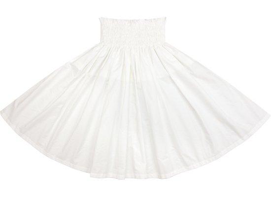 白のコットンパウスカート (綿100%) spau-ctu-offwhite