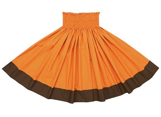 【ポエポエパウスカート】 ビビッドオレンジとチョコレート色の無地パウ pppaus-vividor-chocolate