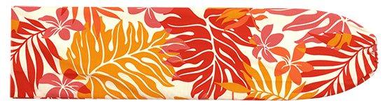 赤のパウスカートケース ラウアエ・プルメリア柄 pcase-2423RD 【メール便可】★オーダーメイド