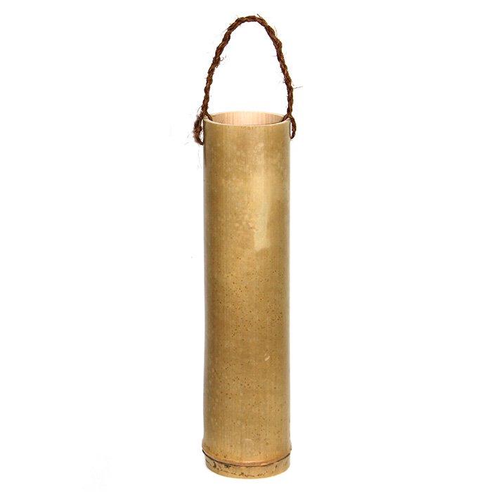 オールロ (オヘカパラを入れる竹筒 'Olulo) 高さ約30センチ、内径約7センチ 【持ち手あり】