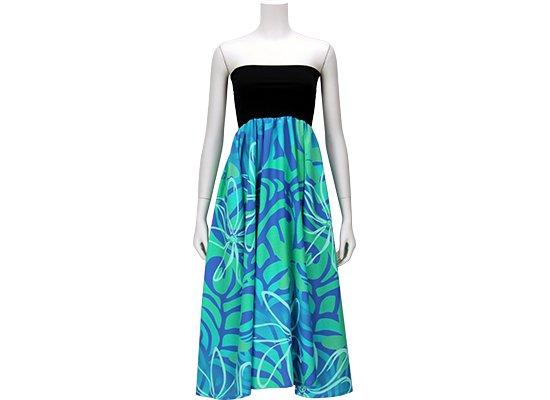 2wayチューブドレス ワンピース ティアレ・タパ柄 51009-2461AQBL
