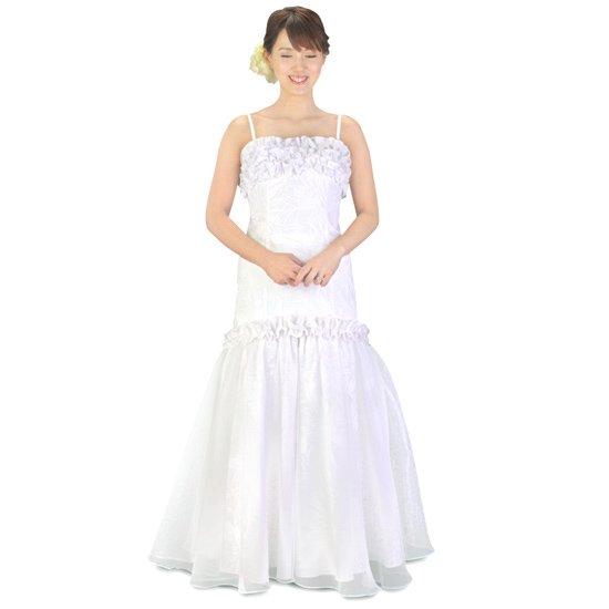 マーメイド ウエディングドレス パニエ付き wdrs-45004ds 【オーダーメイド】