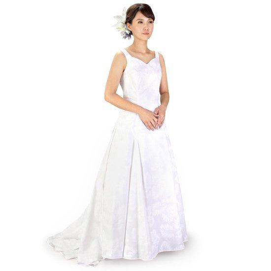Aライン ウエディングドレス パニエ付き wdrs-45007ds 【オーダーメイド】