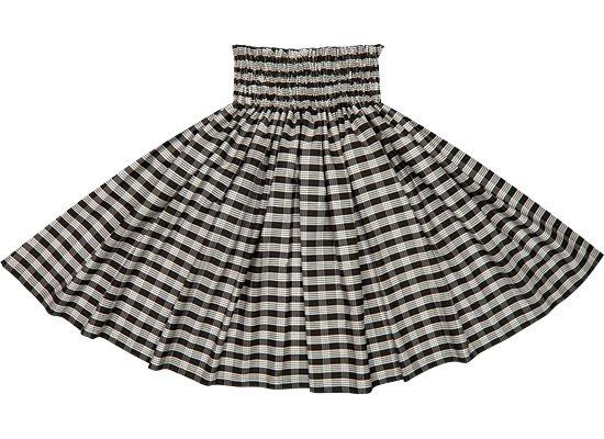【コットン】 黒のパウスカート パラカ柄 (綿100%) spau-ctt-palaka-BK