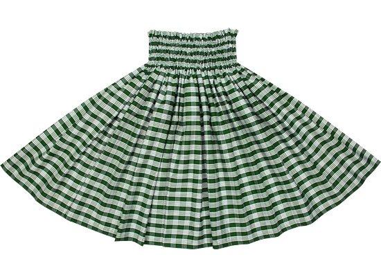 【コットン】 緑のパウスカート パラカ柄 (綿100%) spau-ctt-palaka-GN
