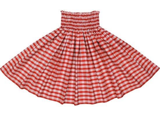 【コットン】 赤のパウスカート パラカ柄 (綿100%) spau-ctt-palaka-RD【TS】