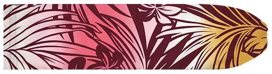えんじのパウスカートケース ハイビスカス・プルメリア・ヤシ・グラデーション柄 pcase-2517BROR 【メール便可】★オーダーメイド