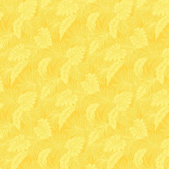 黄色のファブリック モンステラ総柄 fab-2022YW 【4yまでメール便可】
