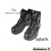 【LayLax】タクティカルアサルトブーツ<BK> 24cm