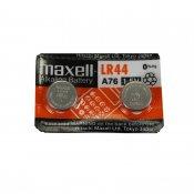 【maxell】LR44アルカリボタン電池 2個セット