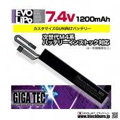 【LayLax】EVOリポバッテリー 7.4V/1200mah ストックパイプインタイプ
