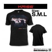 【LayLax】KRISS オフィシャルTシャツ KRISS VECTOR SMG(クリスベクター)KRISS GEN II SMG T-Shirt Lサイズ