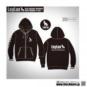 【LayLax】LayLaxオリジナル 8.4オンス ジップアップライトパーカー BK Lサイズ