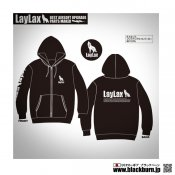 【LayLax】LayLaxオリジナル 8.4オンス ジップアップライトパーカー BK XLサイズ