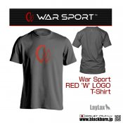 【LayLax】 WAR SPORT(ウォースポート) RED 'W' LOGO T-SHIRT GY Mサイズ