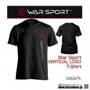 【LayLax】WAR SPORT  VERTICAL LOGO T-SHIRT /縦ロゴ  BK Mサイズ
