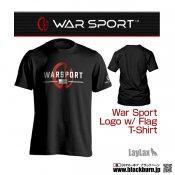 【LayLax】WAR SPORT(ウォースポート) LOGO W FLAG T-SHIRT BK Mサイズ