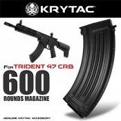 【LayLax】KRYTAC純正 TRIDENT 47 CRB 600連 多弾数 スチール製スペアマガジン