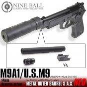 【LayLax/ライラクス】東京マルイ M9A1/US.M9 メタルアウターバレルSAS NEO[14mm逆ネジ・CCW]