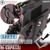 【LayLax/ライラクス】Hi-CAPA5.1/4.3 カスタムセーフティレバー[レフティ] 【ブラック】