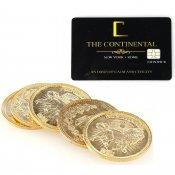 John Wick ジョンウィック para bellumパラベラム タイプ コイン5枚 コンチネンタルホテル カード セット【ゴールドカラー】