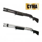 【CYMA】M870 ロング 固定ストック フルメタルショットガン Black
